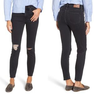 """Madewell 9"""" high rise ripped skinny jeans 27 Ruth"""